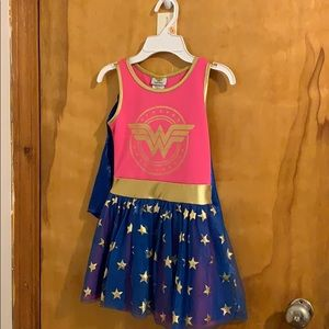 Wonder Woman Dress with Cape Attached